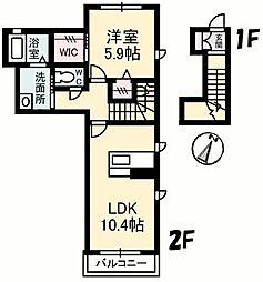 シャーメゾン天山[1201 号室号室]の間取り