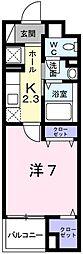 JR山陽本線 姫路駅 バス7分 琴岡町下車 徒歩1分の賃貸マンション 5階1Kの間取り