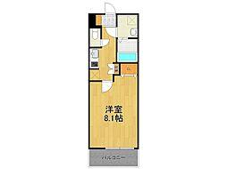 阪急今津線 甲東園駅 徒歩10分の賃貸マンション 3階1Kの間取り