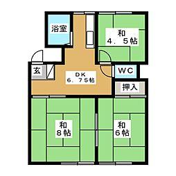 石江荘[1階]の間取り