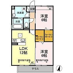 Recente和田町A[1階]の間取り