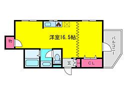 サンライフ福島[2階]の間取り