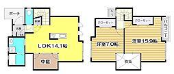 [テラスハウス] 埼玉県富士見市大字水子 の賃貸【/】の間取り