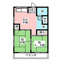 タマキビル[4階]の間取り