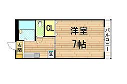 兵庫県神戸市東灘区森北町2丁目の賃貸アパートの間取り