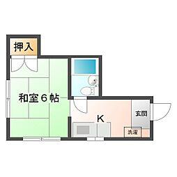樋口邸[2号室]の間取り