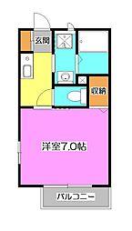 埼玉県入間市東藤沢2の賃貸アパートの間取り
