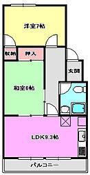 第一梅田コ−ポ[2階]の間取り