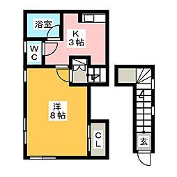 メゾン三角B[2階]の間取り