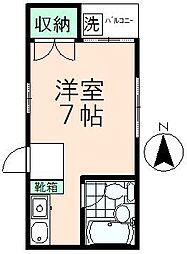 エステートピア高幡[1階]の間取り