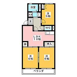 マンション畑[3階]の間取り