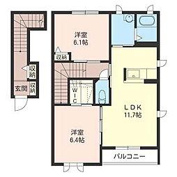 ヒルズコート2[2階]の間取り