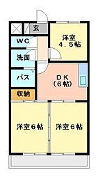 栃木県宇都宮市滝の原3丁目の賃貸マンションの間取り