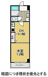 愛知県名古屋市昭和区田面町1丁目の賃貸マンションの間取り