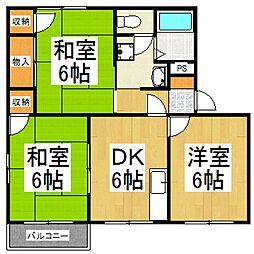 フローラル山田B[1階]の間取り