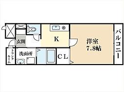 クレール興戸[2階]の間取り