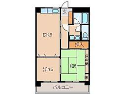 和歌山県和歌山市太田4丁目の賃貸マンションの間取り