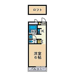 メイプル[2階]の間取り