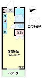 パレス富士[1階]の間取り