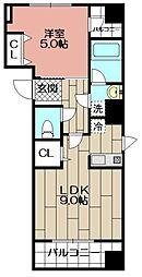 Aden博多祇園町[7階]の間取り