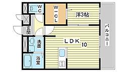 ノア東山[B303号室]の間取り