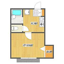 SUNSET Villa[2階]の間取り