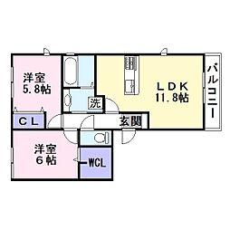 コンフォールミタニ[2階]の間取り