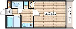 兵庫県神戸市灘区岩屋北町4丁目の賃貸マンションの間取り