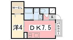 コンフォート双葉 C棟[102号室]の間取り