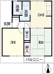 サウスガーデンBB B棟[1階]の間取り