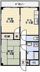 メゾンコム[502号室]の間取り