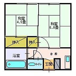 荻和良荘[05号室]の間取り