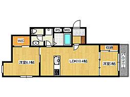 JR東海道・山陽本線 摩耶駅 徒歩2分の賃貸アパート 1階2LDKの間取り