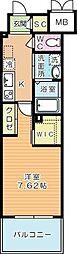 ウイングス西小倉[6階]の間取り