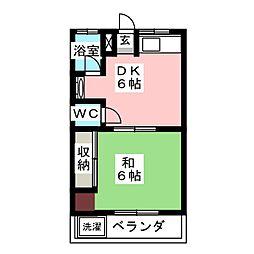 扇荘[2階]の間取り