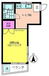 第1あさひコーポ[2階]の間取り