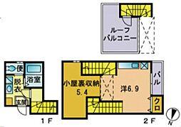 メゾネティック34−倶楽部ハウスII[202号室号室]の間取り