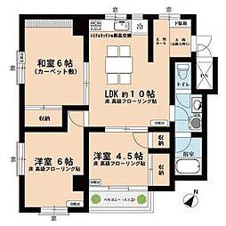 ハイライフ横浜[9階]の間取り
