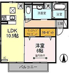 埼玉県吉川市大字保の賃貸アパートの間取り