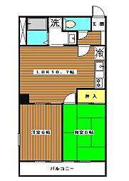 ロイヤルコーポ高島平[3階]の間取り