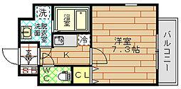 CASSIA福島駅前[7階]の間取り