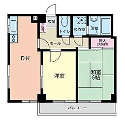 神奈川県横浜市磯子区上町の賃貸マンションの間取り