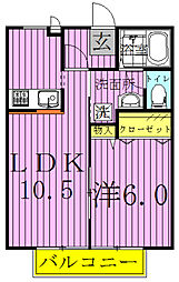 コアロード2[2階]の間取り