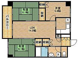 武蔵中原レジデンス[2階]の間取り