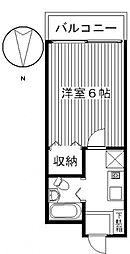 ジョイフル貝沢[1階]の間取り