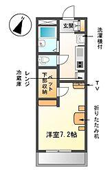 レオパレスYUMA[2階]の間取り