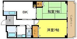 トリニティ加美東[2階]の間取り