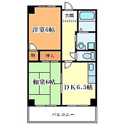 サンハイツ大和田[4階]の間取り