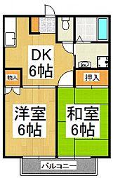 オークハウス山田[2階]の間取り