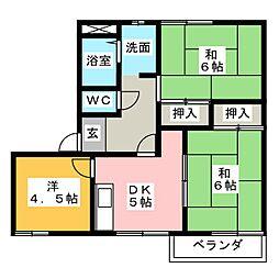 グリーンハウス C棟[2階]の間取り